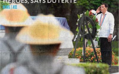 Speech of President Rodrigo Roa Duterte During The National Heroes Day Commemoration
